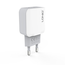 LDNIO EU Plug 12W 2USB Dual Port 2.4A Auto-ID Fast Charging Mobile Phone USB Charger