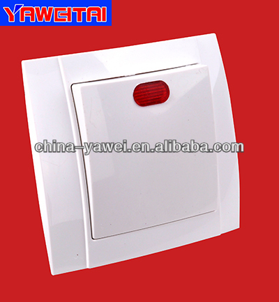 1 gang wall switch with light high quality/ 1 gang socket with light