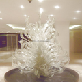 Modern hand blown art swan head design clear glass sculpture interior decoration