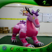 New Design Vivid Inflatable Pink Chinese Dragon , Inflatable Cartoon Toys Custom Animals Balloon Replica Model