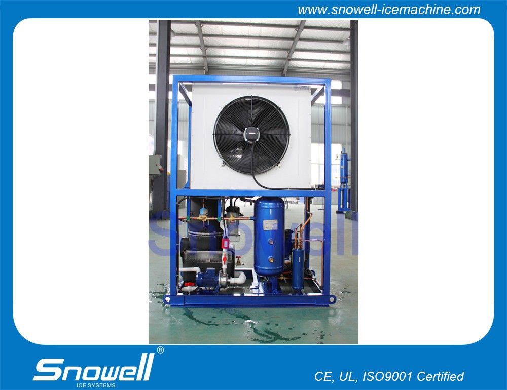 Fast Cooling High Efficiency 1000kg Daily Production Tube Ice Maker Machine