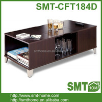 Hot Sale KD Two Layers Cherry Wood Coffee Table Set/End Tables