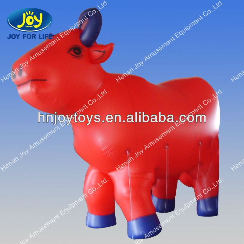 Lifelike Inflatable Red Cow Cartoon Model for Sale Anne
