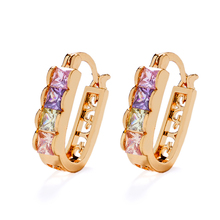 HD 2017 Fashion Jewelry 18K Gold Plated Earrings Designs for Girls