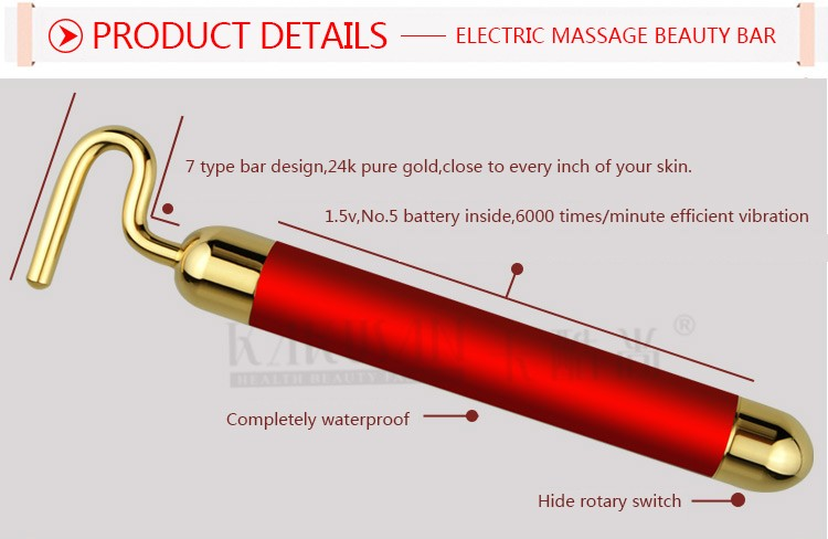 Facial Skin Tightening 7 Shape 24K Gold Energy Beauty Bar