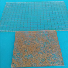 Competitive price 6mm tempered glass edge polished wired glass
