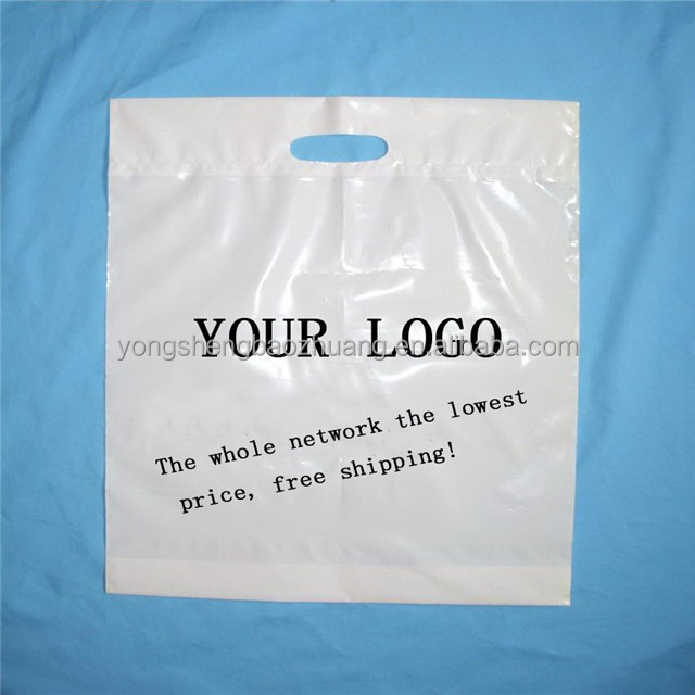 Professional supplier direct sale die-cut plastic shopping carrier bags with your logo ,accept OEM