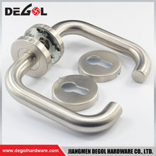 China manufacturer stainless steel tube lever type residential privacy door lever