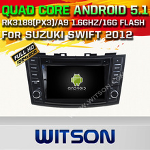 WITSON Android 5.1 DOUBLE DIN CAR DVD RADIO GPS For SUZUKI SWIFT 2012 WITH CHIPSET 1080P 16G ROM WIFI 3G INTERNET DVR