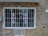 1000 mm * 2000 mm white powder coated steel security window fence