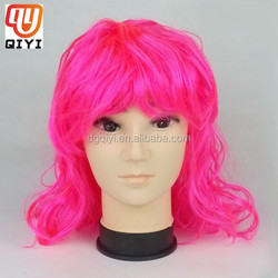Body Wave Pink Natural Long Hair Wig Hot And New Style
