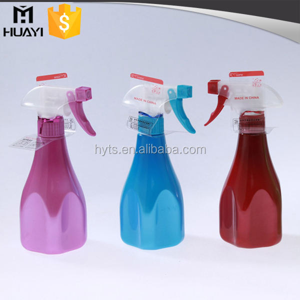 500ml colourful PET plastic trigger spray bottle with trigger spray