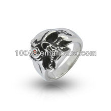 skull ring, stainless steel jewelry