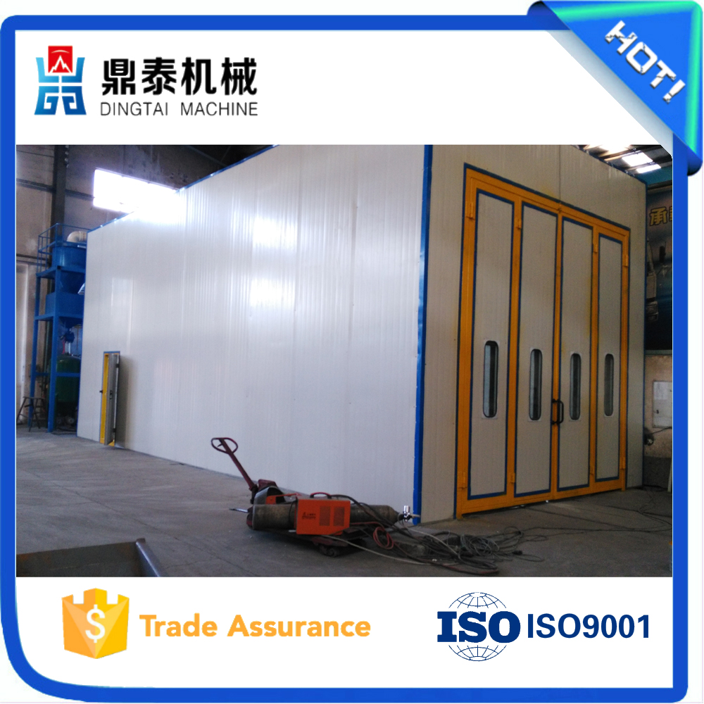 Indoor air sand blasting cabin/shot blasting room for auto spare parts/sandblasting house