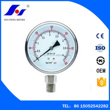 Dry Cheap Normal Gaseous Liquid 0-60psi 0-4kg/cm2 63mm Full Stainless Steel Pressure Gauge