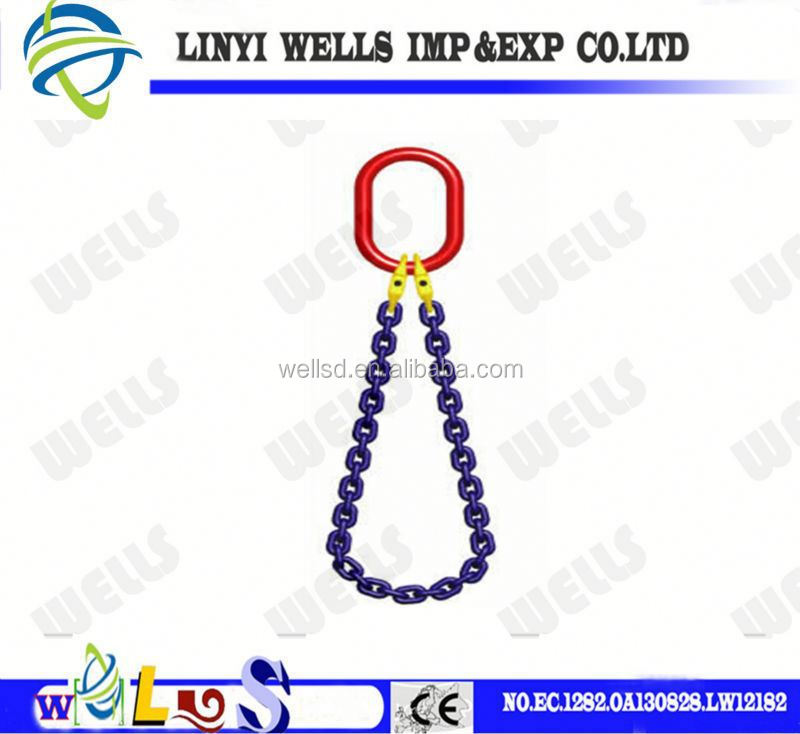 Grade S6 lifting Stainless Steel cable slings (Chain Shackle)