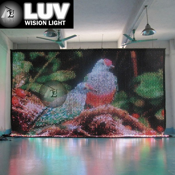 flexible led screen display curtain for stage and event