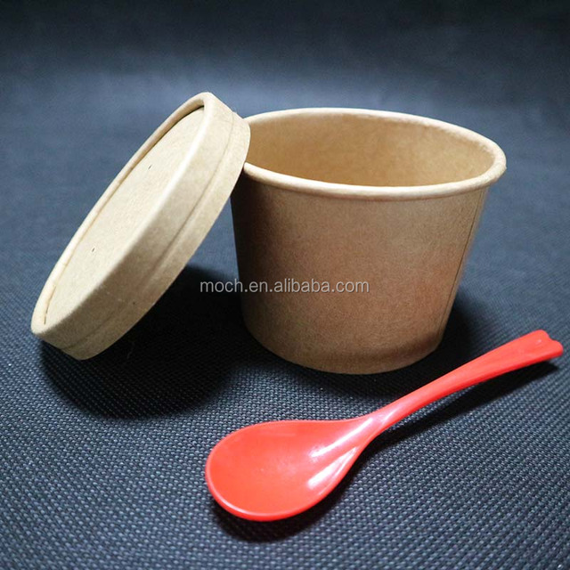 100% Biodegradable Kraft Paper Take Away Coffee Cup Eco Friendly Hot Soup Paper Cup