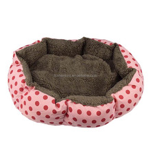 Soft Cotton Cute Dot Pet Puppy Dog Beds For Small Medium Dog