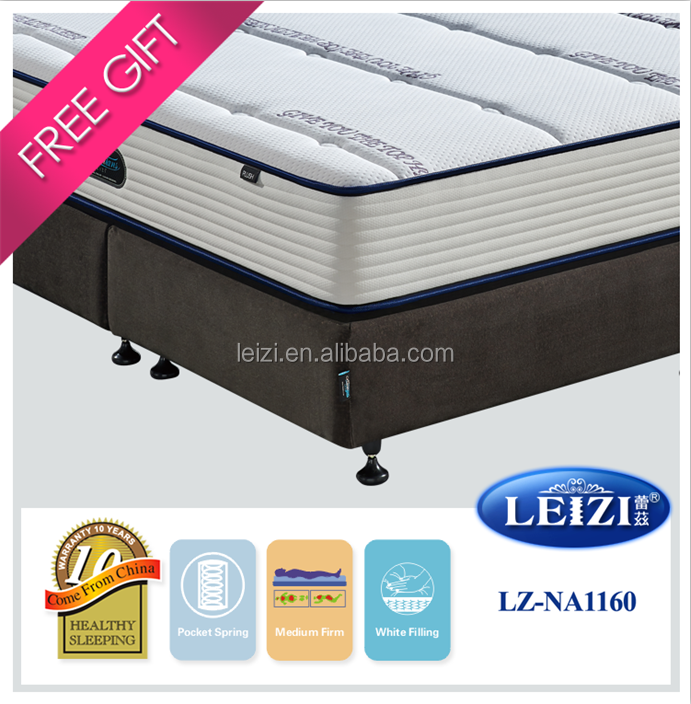 Home furniture double layers sleep well angel dream mini pocket spring mattress