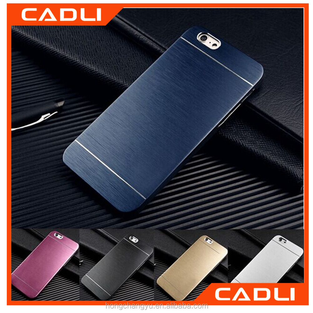 Luxury Aluminum Metal Brushed Hybrid hard PC for iPhone 4 4s 5 5s 6 6s 6 plus 6s plus Motomo phone case back cover