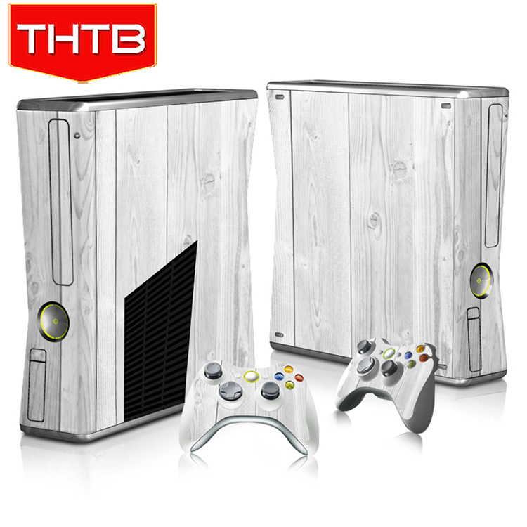 Manufacture vinyl sticker for xbox 360 slim console skin sticker + 2 New Skins for Xbox360 slim