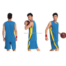 high quality hot selling wholesale clothes factory Customized blue basketball clothes new design basketball uniforms reversible