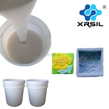 Liquid soft silicone rubber for soap mold making