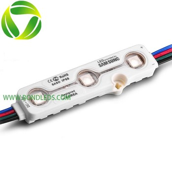 Factory price SMD led module 5050 12V 3leds 0.72W 60LM Waterproof rgb LED MODULE