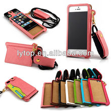 Leather Card Slot Bag Case For iPhone 5/5s, For iPhone 5C