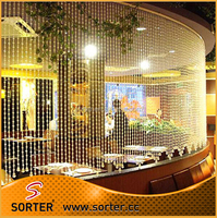Luxury crystal beads Glass curtain hotel restaraunt hanging curtain