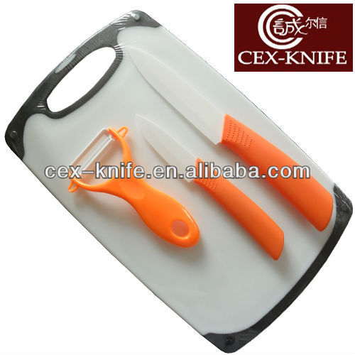 Fruit and vegetable chopping board carving knife set
