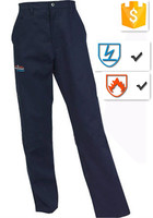 EN11612 Flame retardant Navy Blue 100% 270gsm PPE Workwear Trousers Safety Work Pants