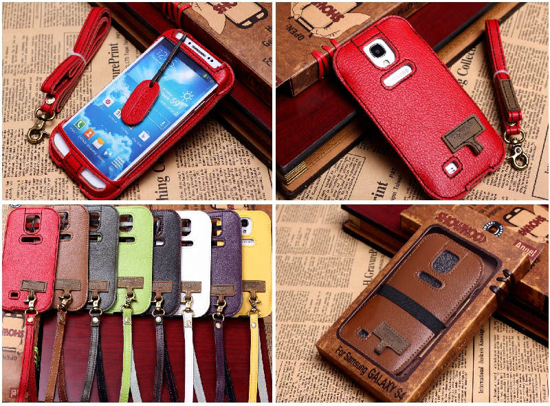 Brand New Showkoo Angel Real Leather Flip Cases For Phones For Samsung Galaxy S4
