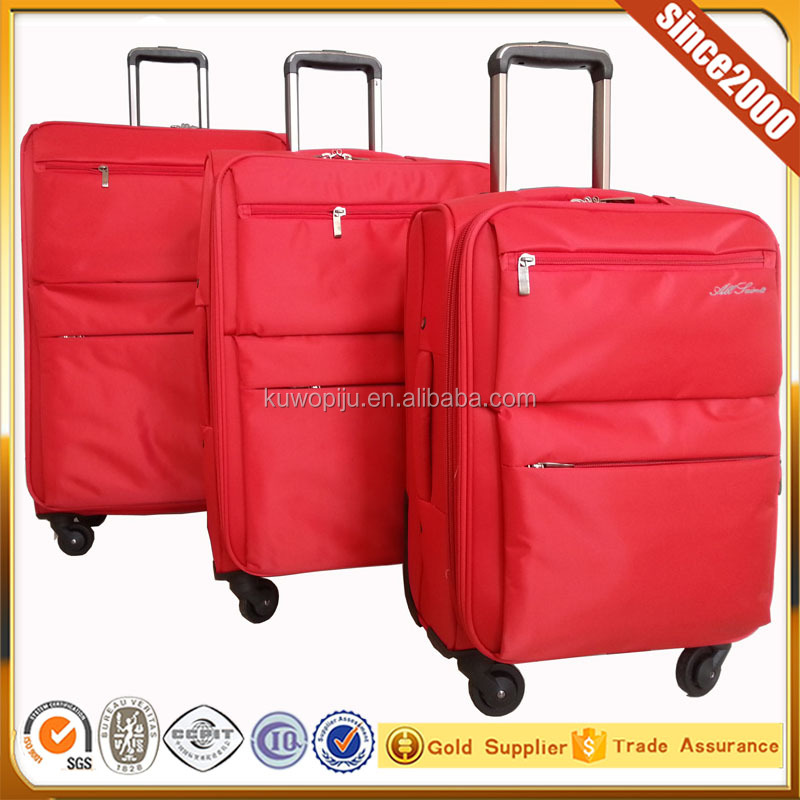 nylon soft style 3 piece set leisure luggage company
