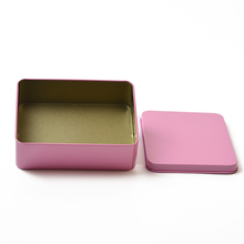 Wedding Party Favor Boxes metal gift card tins tin can bulk rectangular metal containers with lids