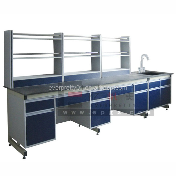 Physichemical Board Side Lab Table Laboratory Equipment with Shelf