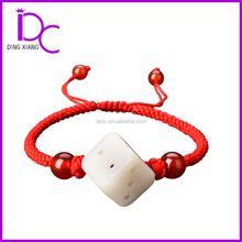 Special Dice Jade Red bean pendant bracelet hand knitting