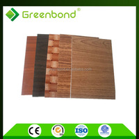Greenbond aluminium wall cladding sheet price of wood effect
