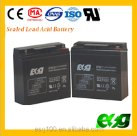 VRLA lead acid battery 12v 17ah Small rechargeable UPS batteries