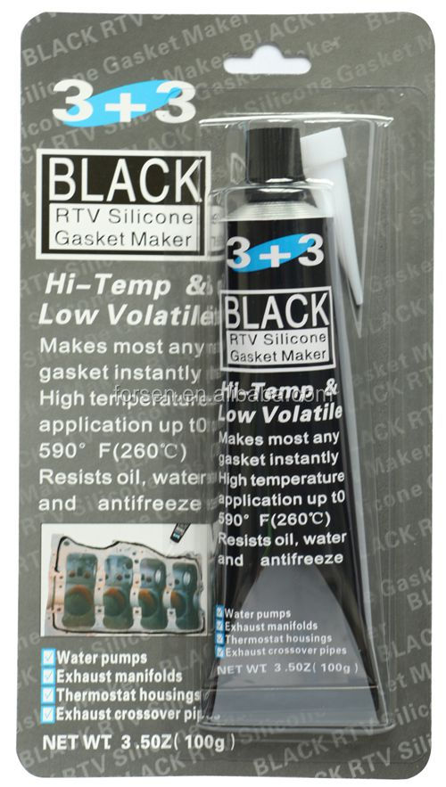 3+3 Black RTV Silicone Gasket Maker Most Competitive Sealant Glue