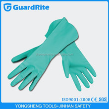 GuardRite brand green cut resistant nitrile gloves, safety work gloves for good sell modle A-3013
