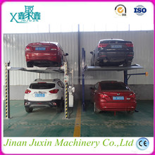 Upright electric two desk car parking lift