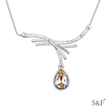 15150 fake crystal necklace gps in necklace