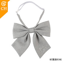 New Cotton Fabric Style Beautiful Female Kids Girl Butterfly Bow Tie