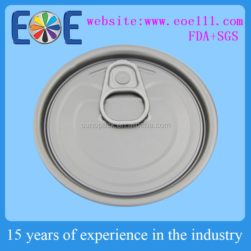 Egypt 70mm tinplate tuna fish can lid 214# easy open end manufacturer
