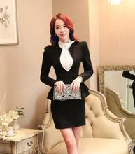 New Model Korean Style Office Uniform Designs Modern Women Skirt Suits