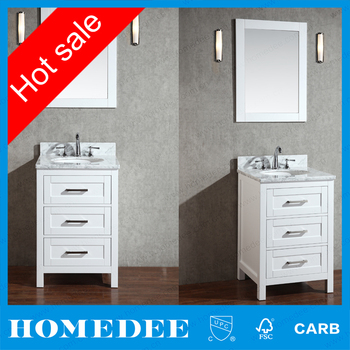 Free Standing 12 inch Deep Base Cabinets Solid Wood Bathroom Vanity Cabinets