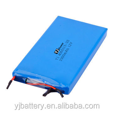 12V 3000mah/11.1V 3300mah lithium ion battery with protection circuit