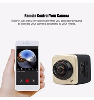 2016 New Arrival 2.0 inch LCD 1080P VR 360 Degree Panorama Waterproof wifi sport action camera